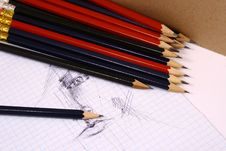 Free Pencil On White Isolated Backg Royalty Free Stock Image - 3439036