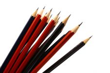 Free Pencil On White Isolated Backg Royalty Free Stock Photography - 3439337