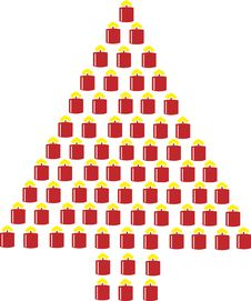 Free Christmas Tree Designs Royalty Free Stock Photography - 3439457