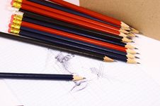 Free Pencil On White Isolated Backg Stock Image - 3439531