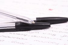 Free Pencil On Note Book Close Up S Stock Photo - 3439690