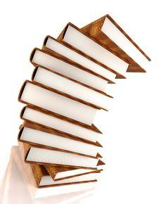 Free Books Massive On White Royalty Free Stock Image - 3439836