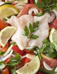 Free Ingredients For Fish Recipe. Royalty Free Stock Photos - 34303458