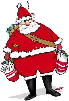 Free Santa Phone Royalty Free Stock Image - 34306616