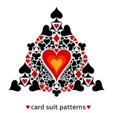 Free Heart Card Suit Snowflake Stock Photo - 34307230