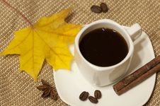 Free Autumn Cup Of Coffee Stock Photos - 34308183