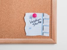Cork Board Notes Stock Photos
