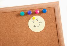 Cork Board Notes Royalty Free Stock Image