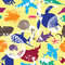 Free Seamless Background With Bright Underwater Inhabit Stock Photo - 34302070