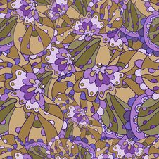 Free Seamless Floral Lilac Pattern Royalty Free Stock Photography - 34311817