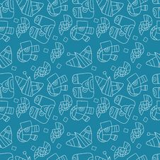 Free Seamless Abstract Pattern On A Blue Background Stock Photo - 34311830