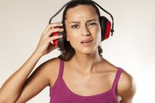 Free Anti-noise Headset Stock Images - 34313304