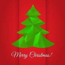 Christmas Tree Greeting Card Design Royalty Free Stock Image