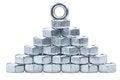 Free Metallic Nuts Stock Photo - 34320160