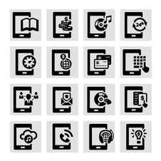 Free Mobile Icons Royalty Free Stock Image - 34320206