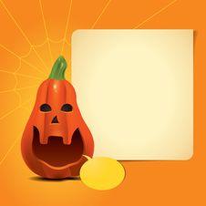 Free Pumpkin Invitation Card Royalty Free Stock Photos - 34322248