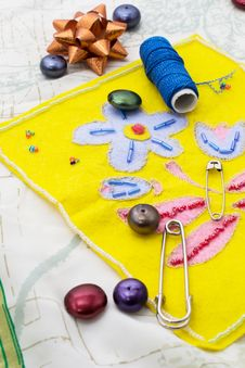 Free Of Weaving And Embroidering Stock Photo - 34322650