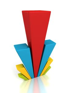 Free 3d Colorful Business Bar Chart Graph Red Top Royalty Free Stock Images - 34324649