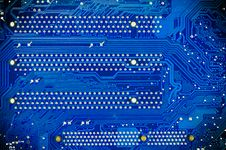 Free Blue Circuit Board Of Computer Royalty Free Stock Photo - 34327625