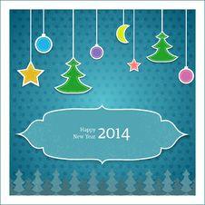Christmas Tree Applique  Background Royalty Free Stock Photo