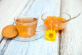 Free Orange Jam And Herbal Tea Royalty Free Stock Images - 34330549