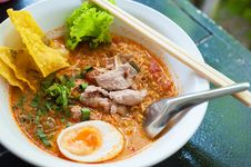 Pork Noodle Tom Yum Stock Photography