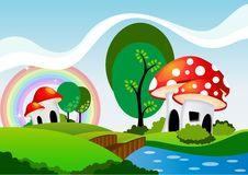 Free Mushroom House Stock Photography - 34337642