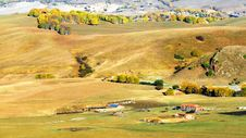Free Dam Autumn In Inner Mongolia Stock Photography - 34339812
