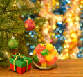 Free New Year Still Life With Sweets And Gift Stock Photography - 34341802