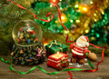 Free New Year Still Life With Santa And Candle Stock Images - 34341984