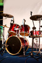 Free Drum Set On Stage Stock Photography - 34344612