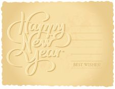 Free Happy New Year Hand Lettering Stock Photo - 34341450