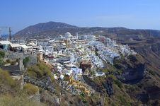 Free Santorini Capital Thira Stock Photos - 34343013