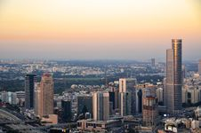 Cityscape At Sunset Of The City Of Tel Aviv Stock Images
