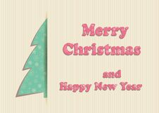 Free Merry Christmas Greeting Card Stock Photography - 34346012