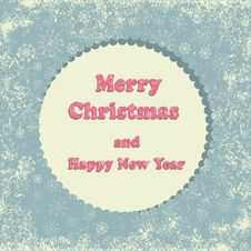 Free Merry Christmas Greeting Card Stock Photography - 34346072