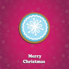 Free Merry Christmas Greeting Card Royalty Free Stock Photos - 34346138