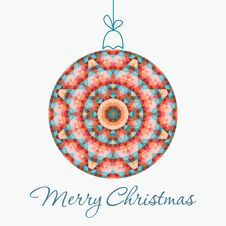 Free Merry Christmas Greeting Card Stock Photo - 34347280