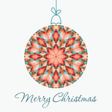 Free Merry Christmas Greeting Card Royalty Free Stock Image - 34347306