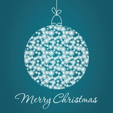 Free Merry Christmas Greeting Card Royalty Free Stock Photo - 34347385
