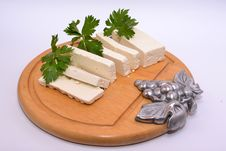 Ricotta Cheese Celery Royalty Free Stock Photography