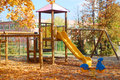 Free Playground In The Autumn Stock Image - 34375211