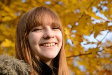 Free Beautiful Young Girl With Red Hair Stock Images - 34376314