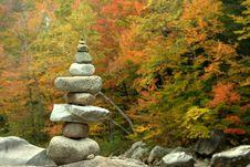 Zen Balance Stone Tower On Autumn Background Royalty Free Stock Images