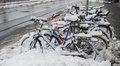 Free Bike Covered With Snow Stock Images - 34389204