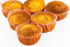 Free Banana Cupcakes. Stock Photos - 34380113