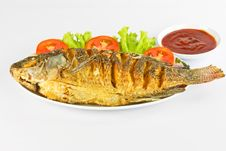 Crispy Fried Tilapia. Royalty Free Stock Photos