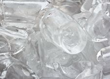 Free Cube Of Ice. Stock Image - 34380241