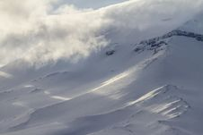 Snow And Clouds. Royalty Free Stock Photography