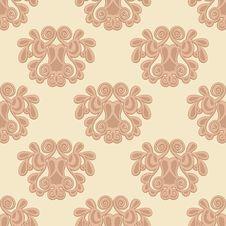 Seamless Damask Texture Royalty Free Stock Photo